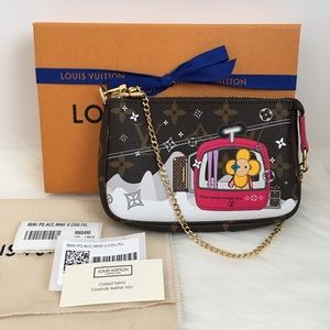 Louis Vuitton Mini Pochette Mono Vivienne Holiday